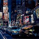 <strong>Night at Broadway 2</strong> <br />146 x 97 cm <br /> Technique mixte sur toile